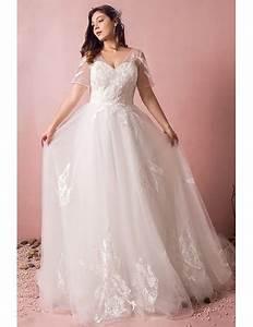 plus size boho beach wedding dress flowy lace with sleeves With flowy wedding dress with sleeves