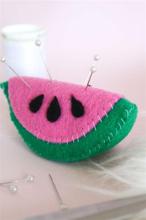 diy watermelon pin cushion club crafted