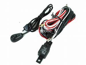 Universal Dlaa Fog Light Lamp Wire Wiring Harness Kit