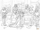 Jesus Coloring Boy Parents Mary Temple Pages Clipart Christ John Printable Millais Everett Drawing Childhood Mother Puzzle sketch template