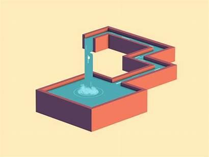 Penrose Waterfall Triangle Escher Illusion Optical Illusions