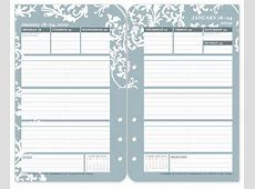 2 page weekly planner template blank 2 page per month
