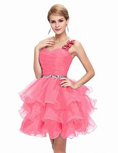 Sparkly Beaded Prom Dress Pink Blue Purple One Shoulder ...