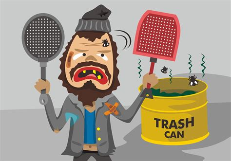 foto de Grungy Guy with Fly Swatter Vector Design Download Free