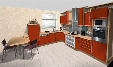 plan en 3d cuisine cuisine plan de travail bois