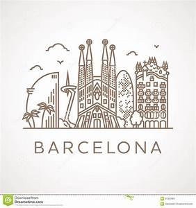Trendy Line-art Illustration Of Barcelona. Stock ...