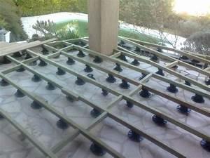 Pose Terrasse Bois Sur Gravier : terrasse bois plot beton pvc diverses id es ~ Premium-room.com Idées de Décoration