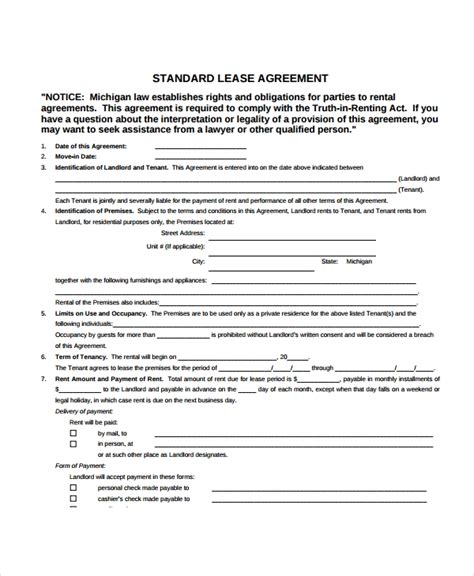 Apartment Lease Rental Agreement by 8 Apartment Lease Agreement Sles Word Pdf Pages