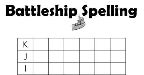 battleship spellingpdf  images spelling battleship