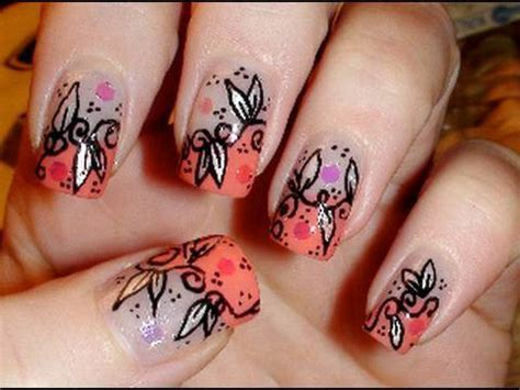 spring flowers nail art tutorial german youtube