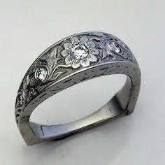 western silver wedding rings silver 4mm wide engagement With western engraved wedding rings