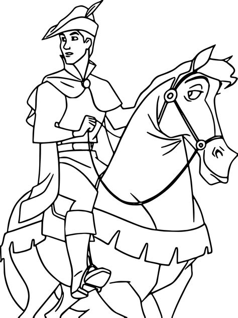 prince phillip  samson horse  coloring page