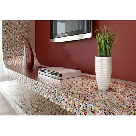multi color porcelain tile kitchen floor small chips