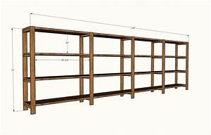 Ana White Easy, Economical Garage Shelving from 2x4s