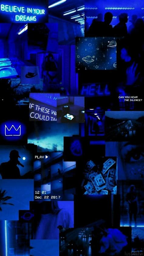 aesthetic wallpaper estetik warna biru