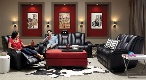 Red And Black Living Room Set : Black, Gray & Red Living Room Furniture & Decorating Ideas