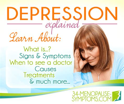 About Depression | 34-menopause-symptoms.com