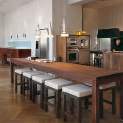 kitchen island breakfast table environmentally aware kitchens from hansen