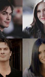 Damon Salvatore & Elena Gilbert Salvatore. Then & now