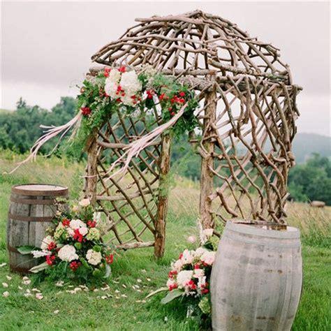 tree branch ceremony arch ideas  weddings  gillbrook