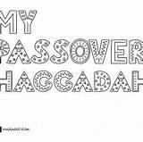 Haggadah Coloring Passover Haggadot Own sketch template