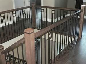 rampe en bois et metal de style contemporain rampe bois With rampe escalier bois interieur