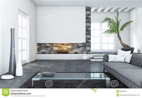 Grote Moderne Woonkamer Stock Afbeeldingen Afbeelding