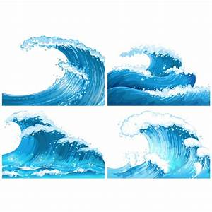 Blue waves collection Vector | Premium Download