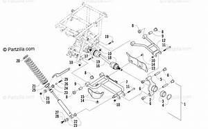 Arctic Cat Atv 2005 Oem Parts Diagram For Rear Suspension