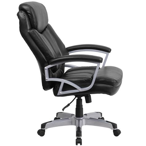 500 Lb Office Chairs by Hercules Series 500 Lb Capacity Big Black Leather