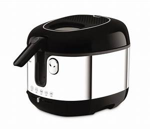 SEB Friteuse classique smart clean noir/inox FR460000