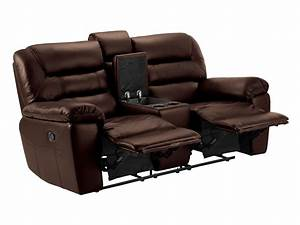 devon small sofa with manual recliners 2 tone brown leather With leather sectional sofa with 2 recliners