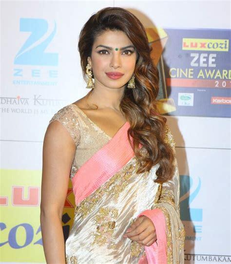 priyanka chopra hairstyles  indian outfits indian