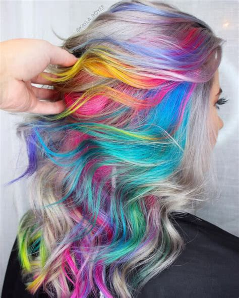 colorful hairstyles 29 colorful rainbow hair ideas trending in 2019