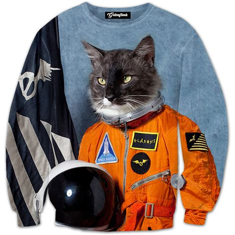 First Cat In Space Tee  All Over Print Apparel Getonfleek