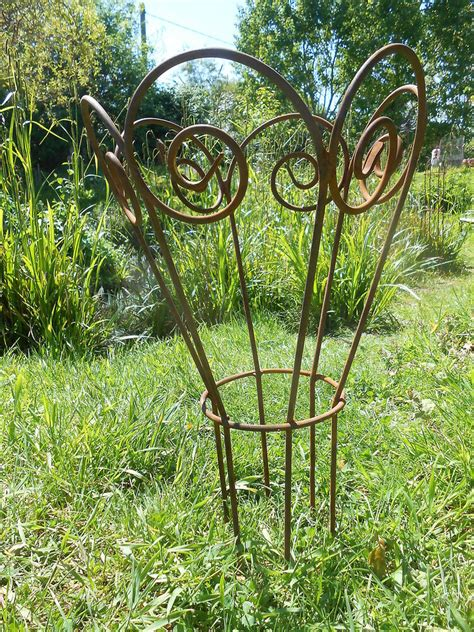 Garden Plant Support Handmade Antique Style Rusty Metal