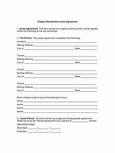 Consultant Contract Template Free Oregon Rent And Lease Template Free Templates In Pdf