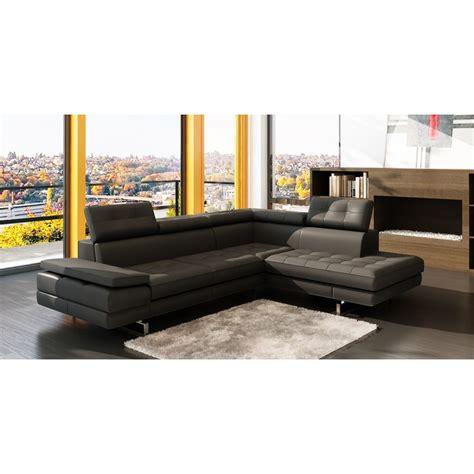 canap駸 d angle cuir canape d angle en cuir canap d 39 angle gauche cuir noir hudson decoration salon