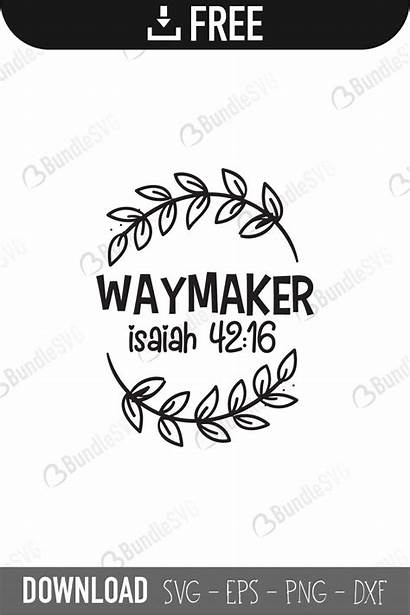 Maker Worker Way Miracle Svg Cut Silhouette
