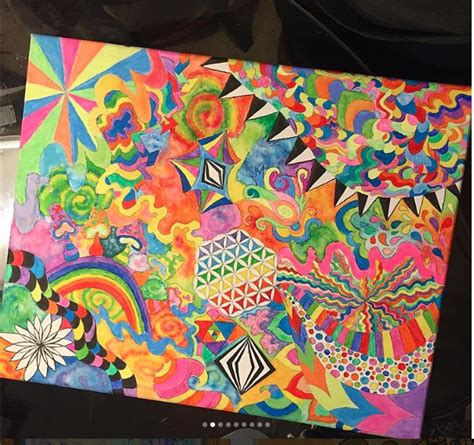 trippy abstract acid colorful shrooms trippy art