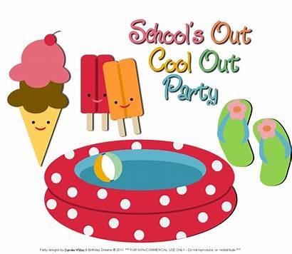 Party Clip Clipart Pool End Splash Summer
