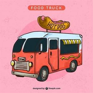 Nice food truck illustration Vector | Premium Download