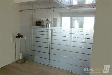 Glaswand Mit Schiebetür by Glaswand Und Glastrennwand Nach Ma 223 Glasprofi24