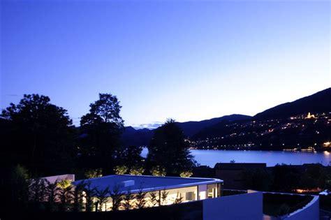 glass pavilion house lake lugano switzerland
