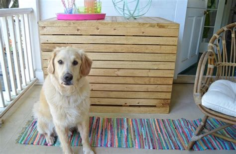 diy wooden dog crate cover cuteness