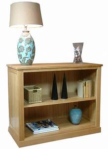 Mobel Oak Low Bookcase Living Room Furniture