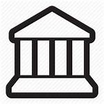 Court Building Pillars Museum Icon Bank Simple