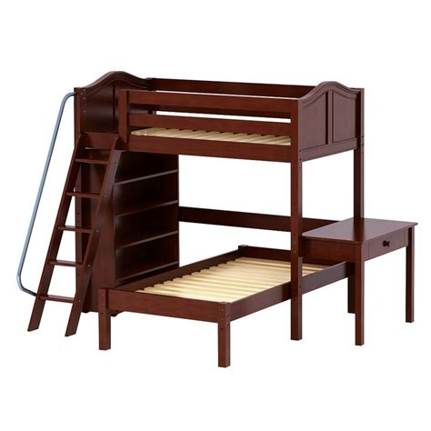 bed with ladder and desk maxtrixkids knockout5 cc high loft bed with angled