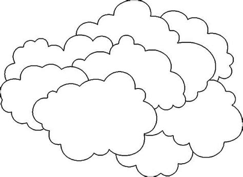 Cloud Coloring Page Printable Pages For