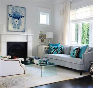 turquoise and gray With grey and turquoise living room